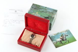 Property of a deceased estate - a lady's Rolex Oyster Perpetual Datejust steel & gold wristwatch