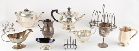 The Henry & Tricia Byrom Collection - a quantity of assorted silver items, including an Edwardian