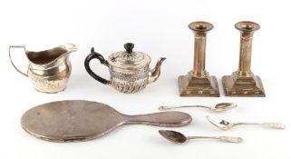 Property of a deceased estate - a Victorian silver bachelor teapot, John Aldwinckle & Thomas Slater,