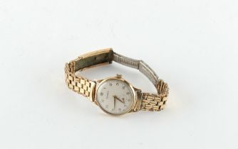 Property of a gentleman - a gentleman's Accurist 9ct gold cased wristwatch on later plated