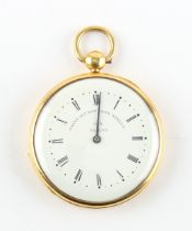 The Henry & Tricia Byrom Collection - a gold plated pocket pedometer, the dial signed 'PAYNE 163 NEW
