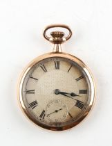 The Henry & Tricia Byrom Collection - an early 20th century 9ct gold open faced keyless wind