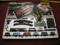 "A Hornby ""OO"" Gauge #R674 Midnight Freight Train Set, comprising of Class 58 Diesel Locomotive"