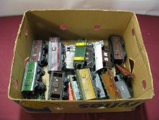 Approximately Nineteen 'O' Gauge, mainly Hornby based four wheeled rolling stock, overall poor,
