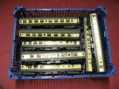 "Ten ""OO"" Gauge Eight Wheeled Coaches, by Lima, all with GWR livery, boxed."