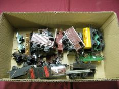 Seventeen Mainly Post War 'O' Gauge Wagons, by Hornby and others, mainly original but all poor,