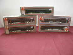 "Five Boxed Lima ""HO"" Gauge Swiss SBB FFS Liveried Eight Wheel Coaches."