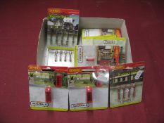 "Twelve Hornby Skaledale ""OO"" Scale Lineside Accessory Packs, including station lamps, telephone"
