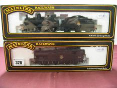 Two 'OO' Scale Locomotives by Mainline, an 0-6-0 and tender 'Deans Goods' and a class 6600 0-6-2T,