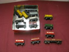 A Quantity of Hornby Dublo Three Rail Wagons, all playworn.