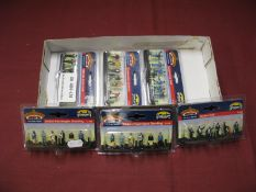 Six Packs of Bachmann Branch-Line 'Scenecraft' OO Scale Plastic Model Figures, to include