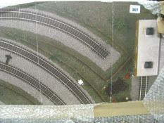 A Pre-Fabricated 'OO' Scale Model railway Layout Board, measuring 180cm x 120cm.