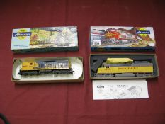 "Two ""HO"" Scale Outline American Locomotives, by Athearn, including Union Pacific, R/No. 4555,"