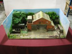 An 'O'/1 Gauge Diarama of a British Mid XX Century Works, with scenery, 93cm wide, 52cm deep.