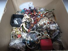 A Mixed Lot of Assorted Costume Jewellery, including ethnic style necklaces, bangles, brooches,
