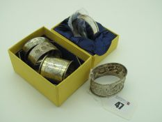 A Carrs of Sheffield Millennium Hallmarked Silver Napkin Ring, (Sheffield 2000), bearing feature