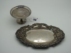 A Hallmarked Silver Pedestal Trinket Dish, EJH, Birmingham 1934 (bearing Jubilee stamp) 8cm diameter