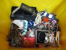 A Mixed Lot of Assorted Costume Jewellery, including imitation pearl bead necklaces, hair