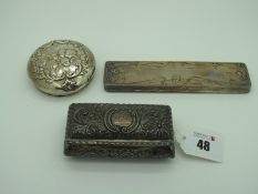 A Hallmarked Silver Trinket Box, Deakin & Francis, Birmingham 1900, of rectangular form, allover
