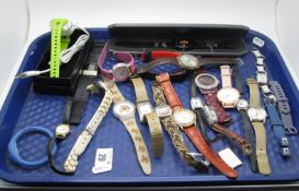 A Small Selection of Modern Ladies Wristwatches, including Swatch, Pod, Lorus, Urban, etc :- One