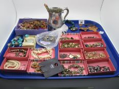 """A Mixed Lot of Assorted Costume Jewellery, including """"Forstner Sterling Silver"""" Canadian brooch,"""