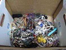 A Mixed Lot of Assorted Costume Jewellery, including ethnic style bangles, bead necklaces, imitation