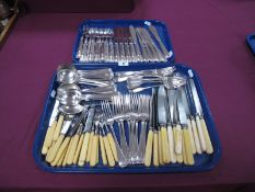 """A Collection of Assorted """"Sheffield Club"""" Plated Cutlery, including matched set of fish knives and"""