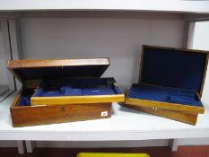 A J.W Benson Ltd Jewellers & Silversmiths 62 and 64 Ludgate Hill London Oak Canteen Case, the hinged