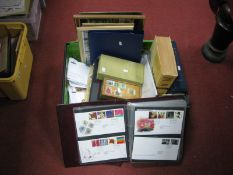 A Large Heavy Box of GB and World Stamps, in packets and in small containers, also 120 + GB FDC's