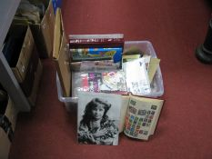 A Mixed Collection of G.B and World Stamps and First Day Covers, in packets, albums and a shoe