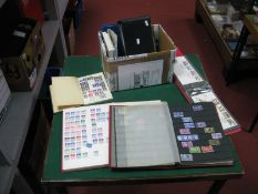 A Carton of G.B Stamps, mint and used from Queen Victoria to Queen Elizabeth II commemorative blocks