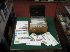 Three Royal Mail Presentation/FDC Folders, with empty leaves and over two hundred GB FDC's from