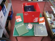 A Large Box For Sorting, includes ideal postage stamp albums (no stamps) in good condition, a