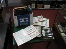 A Box of World and Commonwealth Mint and Used Stamps, in eight stockbooks, noted Greece, Monaco,