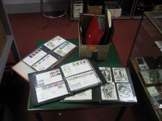 A Collection of G.B First Day Covers, PHQ Cards and Postcards, in seven binders, nice selection from