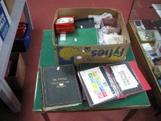 A Large Box of Stamps, club books, on leaves and loose, includes an empire album (empty)many