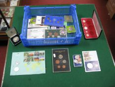 A Collection of Overseas Coins Mainly Presentation Issues, including five shillings Zambia 1965,