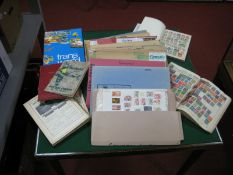 A Carton Containing European Stamps and Postal History in Folders, mint and used stamps and covers