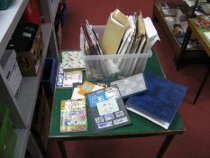 A Large Container of Stamps in Packets, on Stock Cards and Album Pages, mainly used from