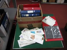 A Carton Containing Over Two Hundred FDC's, mainly from 1970's and 80's. Plus eight empty FDC Albums