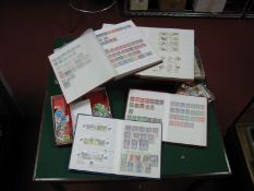 A Small Box Containing Four Stockbooks of Stamps Mint and Used with Thematic Interest, including