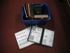 A Carton of World Stamps, in nine stockbooks and albums and on loose album pages, includes two large