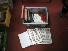 A Box Containing a Range of Mint and Used World Stamps, in folders, stockbooks and in packets,