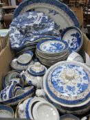 Booths 'Real Old Willow' Table Ware, of forty seven pieces, four pieces by Doulton.