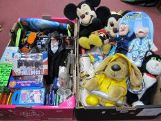 Sababa Muppets. California Stuffed toys, Disney Characters, Activision, boxed figures, Top Trumps,
