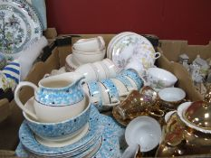 A Shelley 'Columbine' China Teaware, of eighteen pieces, other mid XX Century teaware:- One Box