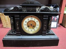 Early XX Century Viennese Wall Clock, eight day movement Roman numerals to white enamel dial, 'R.