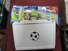 A Playmobil Football Set and Pitch, partly boxed.