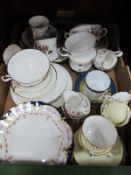 Hammersley , Royal Albert 'Val d'Or', Worcester, Wedgwood, other ceramics:- One Box