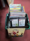 Two Albums of First Day Covers, modern Rupert, Dandy and Beano annuals and a small collection of